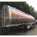 46000 litros de 3 ejes de tanque de combustible de aluminio semi remolque tanque de aceite de acero inoxidable semi remolque tanque de glp