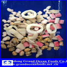 Frozen Seafood mix in color bag