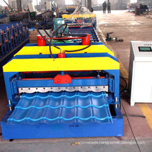 Manual Decoiler Sheet Metal Glazed Tiles Roll Forming Machinery