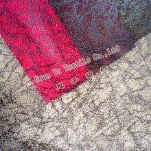 Gamuza de poliéster terciopelo impreso para la decoración casera en relieve