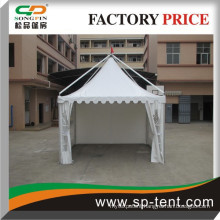 Aluminum outdoor gazebo tent with waterproof cover and sidewall