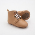 Wholesale Winter Rubber Sole Leather Baby Boots