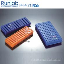 Racks Reversíveis de Polyproyplene para Microtube