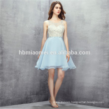 2017 Hot selling light blue color bridesmaid dresses short design sequies backless wedding bridesmaid dresses for girls