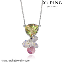 43596-Bijoux italiens vente en gros cristaux de Swarovski, collier avec pendentif