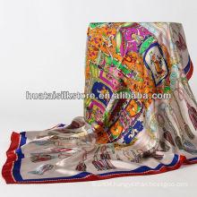 2014 new hangzhou 100% silk white fringe scarf ladies