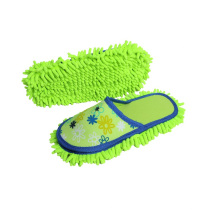 Chinese wholesale indoor chenille home floor cleaning slippers