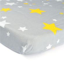 Ausgestattetes gesponnenes Baumwollkrippen-Blatt bunt gedruckt, Baby-Bett-Blatt