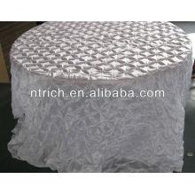 Mode pincée roue taffetas tissu de table pour mariage/banquet