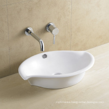 Leaf Form Bathroom Ceramic Basin 8061