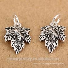 SEF101 925 accesorios de la joyería de plata esterlina Tailandia pequeña hoja de hojas colgante de la pulsera accesorios diy materiales