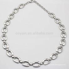 2015 новых искусственных ювелирных изделий простые серебряные цепи ожерелья навалом Китай