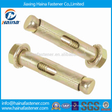 China supplier 4.8 grade color plated sleeve anchor with flange nut