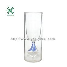 Blanchettes en verre à double paroi (dia: 6.8 * 18 212ml)