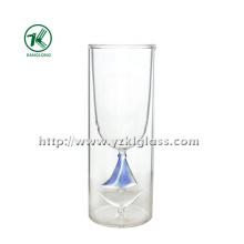 Blots de vidro de parede dupla (dia: 6.8 * 18 212ml)