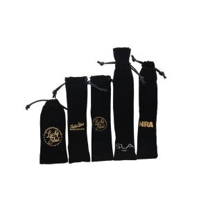 Black velvet pen pouch with printing wholesale
