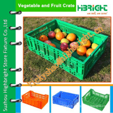 plastic foldable fruits crate/storage crates for apples and oranges