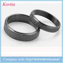 Bague en anneau noir anneau en acier inoxydable 316L en acier inoxydable noir