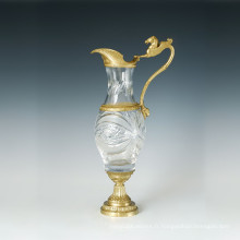 Statue en vasque en cristal Sculpture en bronze de cheval Tpgp-024