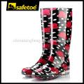 Senhoras elegantes botas de chuva de plástico W-6040D