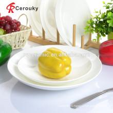Ceramic plate white white porcelain plate