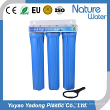 Dreistufiger blauer Wasserfilter