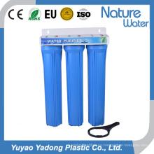 Filtro de agua azul de tres etapas