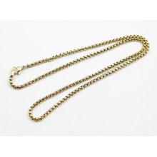 Cadena de perlas Sq de acero inoxidable chapado en oro de moda