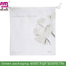 Saco de gimnasio con logotipo personalizado para regalo barato al por mayor bolso de lazo de algodón con tela