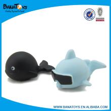 Adorável mini banho brinquedo animal de vinil