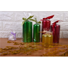 Высококачественная рождественская восковая парафиновая свеча