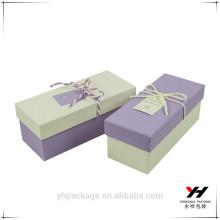 Papel de regalo de caja oblonga de alta calidad personalizada
