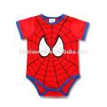 Venda quente bebê recém-nascido unisex romper 100% algodão bebê onesie infantil super hero baby girl romper