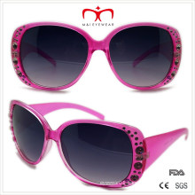 Plastic Ladies Rhinestone Sunglasses (WSP508365)