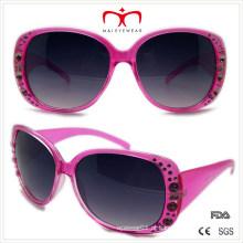 Plástico senhoras óculos de sol strass (wsp508365)