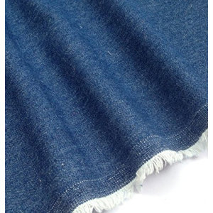 Denim Fabric 100% Coton Couleur Bleu