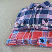 shirt fabric cvc 55% cotton 45% polyester fabric yarn dyed fabric