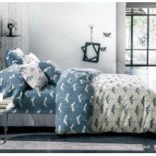 Juego de sábanas de algodón estampado en casa Pure Cotton