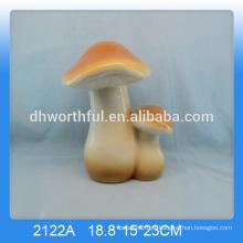 Atacado artesanato cerâmico cerâmica cogumelo, cerâmica cogumelos jardim ornamentos