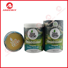 Tea Leaves Packaging Paper Tube Customized Printing