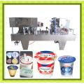 Máquina de llenado y sellado de taza de jalea de yogur de jugo de leche