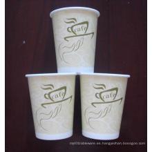 Taza de papel de 8 onzas (taza caliente) tazas de papel caliente aisladas / tazas de papel caliente aisladas / taza de papel desechable de café de la pared de la ondulación / doble / sola