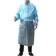 Одноразовый синий 25gsm PP водонепроницаемый нетканый халат изоляции