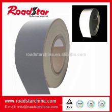 Silver grey reflective PVC foam leather manufacturer