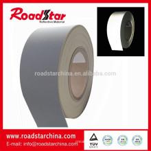 Prata cinza reflexiva do PVC da espuma couro fabricante