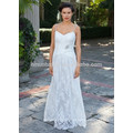 NA1028 Frete Grátis A-line V-neck Beaded Spaghetti Straps Lace Wedding Dress