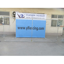 2400X2100mm Temporary Fence Panel, Galvanized Fence Panels with Powder Coating, PVC Coated Chain Link Fence Panels