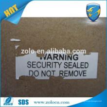 Diseño impreso personalizado de la etiqueta engomada etiqueta engomada adhesiva eggehsll clara impermeable desprendible del vinilo