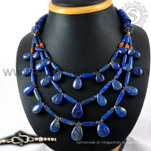 Gleaming multi gemstone colar de prata jóias 925 prata esterlina Jóias jóias de prata indiana