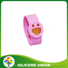 Silicone smile face slap baby mosquito repellent bracelet